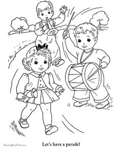 Free fourth of july coloring pages Free Kids Coloring Pages, Printable Adult Coloring Pages, Animal Coloring Pages, Coloring Book Pages, Coloring Pages For Kids, July Wedding Colors, Fourth Of July Drinks, July 4th, 4th Of July Clipart