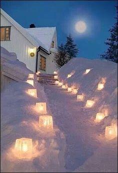 Candle lit path