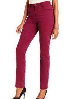Charter Club Petite NEW Jeans Acai Berry Denim 2P 2 Classic Fit Narrow Slimming #CharterClub #SlimSkinny