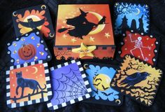 Halloween Coaster Set by Carolee Clark, King of Mice Studios.