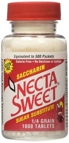 Necta Sweet Saccharin Tablets, 1/4 Grain, 1000 Tablet Bottle (Pack of 8) ** Click image to review more details.
