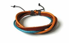 Bangle leather bracelet woven bracelet ropes by braceletbanglecase, $3.00