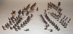 Lot 412 - German made 27 and 28mm flat figures, depicting the Napoleonic Wars