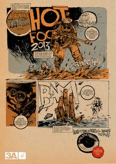 Adventure Kartel HOT-FOOT comic by Ashley Wood  figure itself