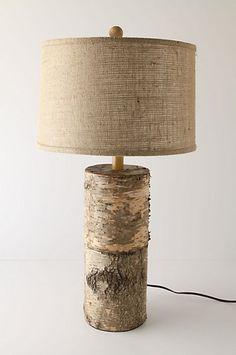Ubiquity Lamp Ensemble eclectic table lamps #cabin #decor #rustic #burlap