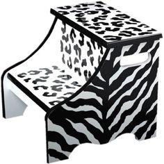 Black Zebra Step Stool from PoshTots