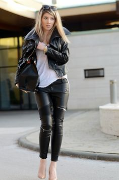 TNT: leather on leather game with my new zara leather zipper pants