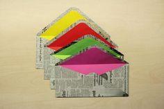 Reusing newspaper as envelopes #reuse