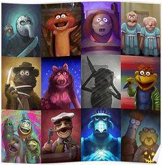 'Muppet Maniacs Series Photographic Print by GrimbyBECK Horror Movies Funny, Horror Movie Characters, Scary Movies, Horror Cartoon, Cartoon Art, Horror Drawing, Horror Art, Horror Film, Disney Horror