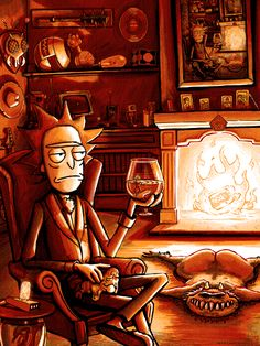 """matthewrabalais: """" """"No Rest for the Ricked"""" by Matthew Rabalais 18"""" x 24"""" Screen Printed by Seizure Palace - Edition of 50 Here's my piece for Gallery1988's officially licensed Rick and Morty show. I can't even tell you how cool it is to be a part of..."""