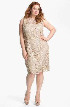 32e5d97533d Adrianna Papell Sleeveless Lace Dress (Plus Size) available at  Nordstrom  Stylish Dresses