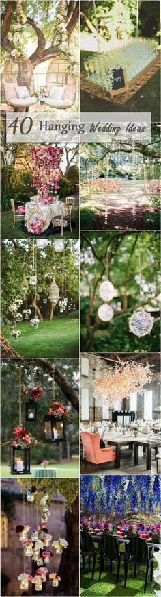 hanging wedding decor ideas                                                                                                                                                                                 More