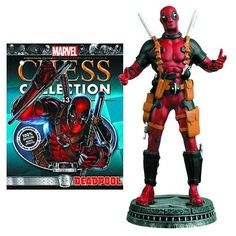 Marvel Deadpool White Pawn Chess Piece with Collector Magazine >>> Want additional info? Click on the image.