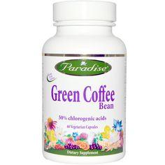 Paradise Herbs, Paradise Herbs, зеленые кофейные бобы, 60 вегетарианских капсул - iHerb.com