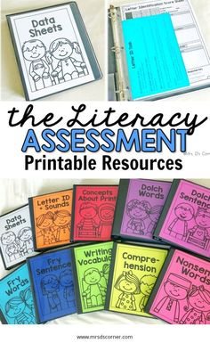 Special Education Assessments for reading, writing, and language arts. Multiple versions for varying Literacy Assessment, Concepts Of Print, 3rd Grade Writing, Nonsense Words, Learning Support, Reading Intervention, Special Education Classroom, Learning Letters, Reading Resources