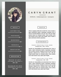 one of our many modern resume templates