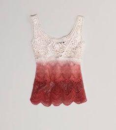 AE Dip-Dyed Crochet Tank