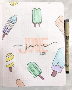 28 Best Bullet Journal Spreads for June - Beautiful Dawn Designs - - If you're looking for bullet journal inspiration, the June bullet journal spreads I'm sharing are perfect for summer. These June spreads will inspire you. Bullet Journal School, Bullet Journal Inspo, Journal D'inspiration, Bullet Journal Spreads, Bullet Journal Cover Ideas, Bullet Journal Writing, Bullet Journal Headers, Bullet Journal Banner, Bullet Journal Aesthetic