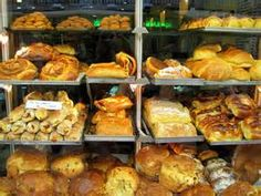 Fresh bakery items at the local shop