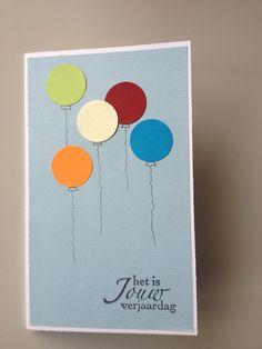 Simpele maar leuke verjaardagskaart