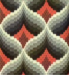 bargello magic - pomegranate variation by gilliflower, via Flickr