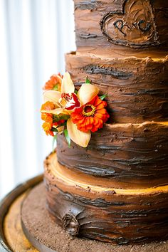 faux bois cake | Chelsea Patricia #wedding