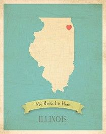 Illinois My Roots Map from Children Inspire Design