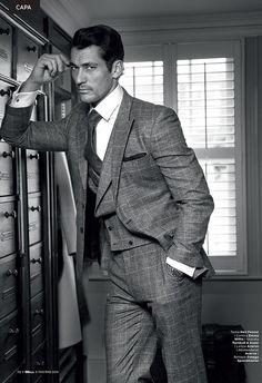 Suits & Shirts — David Gandy by Arnaldo Anaya-Lucca. GQ Style...  Mens Fashion | #MichaelLouis - www.MichaelLouis.com