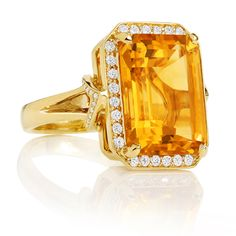 Go bright or go home | Carelle orange citrine After Dark ring