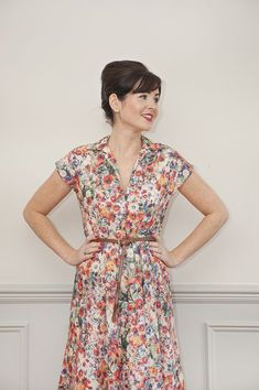 Sew Over It Penny Dress   The Penny Dress sewing pattern is a beautiful, easy-to-sew shirt dress. Stylish, modern but with a nod to the the 50s, Penny is a summer wardrobe staple.