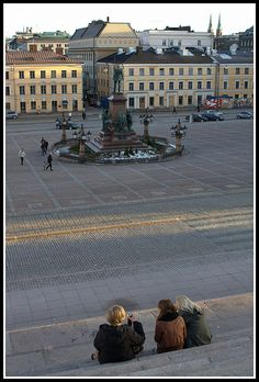 Kruununhaka - Senaatintori seen from Lutheran Cathedral, Helsinki