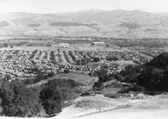 View of San Jose Valley from Bernal Marl Fertilizer Company Collection: Bernal Family Collection (SJPL California Room) California Room, San Jose California, Santa Clara County, Local History, Where The Heart Is, Old Pictures, Historical Photos, Places To See, Paris Skyline