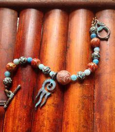 Gemstone Jewelry / Greek Mykonos / Beaded by EllendaleMtnDesigns