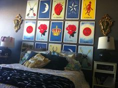 loteria headboard from giant loteria card enlargements