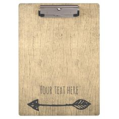 Add your text rustic wood texture clipboard - barn wedding gifts template diy customize personalize marriage