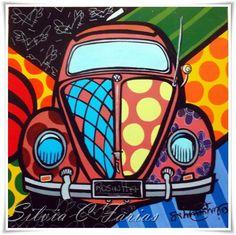 Quadro Fusca Rosinha Alexander Gromow Pop Art Automotivo Silvia Cristina Farias