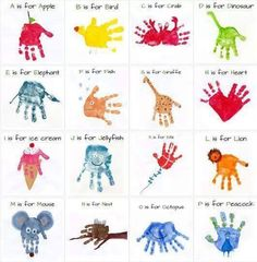 Handprint animal alphabet