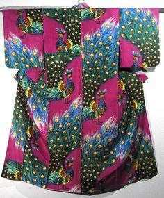 Vintage Meisen Kimono Peacock!