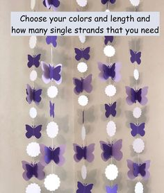 Baby Shower Purple, Baby Girl Shower Themes, Baby Shower Decorations For Boys, Butterfly Nursery, Butterfly Baby Shower, Purple Butterfly, Purple Birthday Decorations, Butterfly Party Decorations, Butterfly Birthday Party