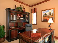 EXECUTIVE HOME OFFICE HAS PROFESSIONAL APPEAL