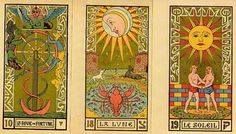 Alchemy Symbols and Kabbalistic Tarot  painted by Oswald Wirth: The Tarot cards are an alchemical formula of manifestation.