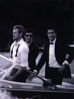 Eric Dane, Luis Figo & Matthew Fox by Peter Lindbergh, IWC commercial shoot, Portofino, Italy, May 2010