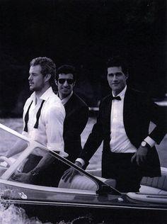 Eric Dane, Luis Figo & Matthew Fox by Peter Lindbergh, IWC commercial shoot, Portofino, Italy, May 2010