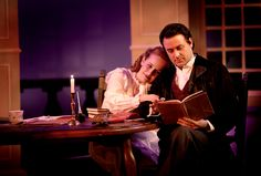 ARCADIA: Amanda Card as Thomasina and Jeff Boyet as Septimus in Blackbird Theater's production of Arcadia by Tom Stoppard.