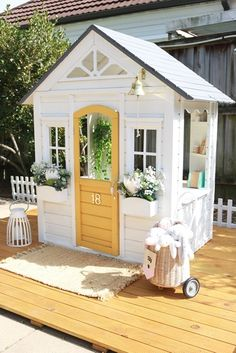 Our Kmart cubby hack — felicity cook. Kids Cubby Houses, Kids Cubbies, Play Houses, Outdoor Spaces, Outdoor Living, Outdoor Decor, Outdoor Play, Backyard Playhouse, Playhouse Ideas