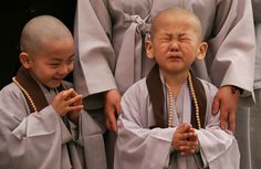 "A child cries after having his head shaved by Buddhist monks during a ""Children Becoming Buddhist Monks"" ceremony at a Chogye temple on May 3 in Seoul, South Korea. The children will stay at the. Buddha Buddhism, Buddhist Monk, Buddha Peace, We Are The World, People Of The World, Buddha Birthday, Little Buddha, Human Condition, Little People"