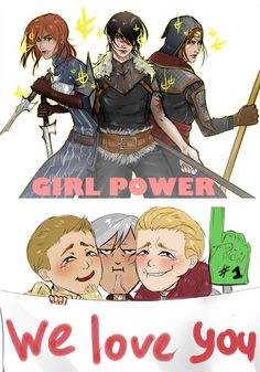 just imagine all three 3 girls fighting together, just imagine the power and chaos, it be awesome!
