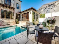 Rosemary Beach Real Estate - Rosemary Beach Panama City Beach Homes For Sale | Zillow Dipping Pool, Rosemary Beach, Panama City Beach, Beach House, Real Estate, Patio, Mansions, House Styles, Outdoor Decor