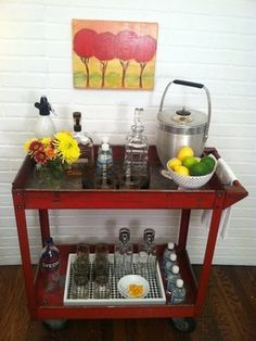 Vintage Industrial Metal Bar Cart - Industrial - Bar Carts - New York - Krrb