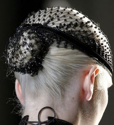 Goth:  Beaded Hairnet. Oh my goodness! LOL! My Aunt Marg had one of these with colored beads! I couldn't wait to grow up to wear one!